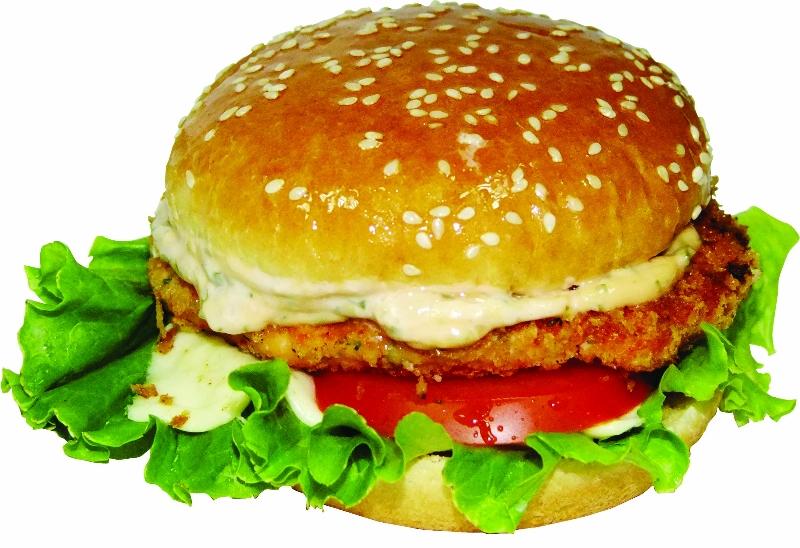Гамбургер с рыбной котлетой